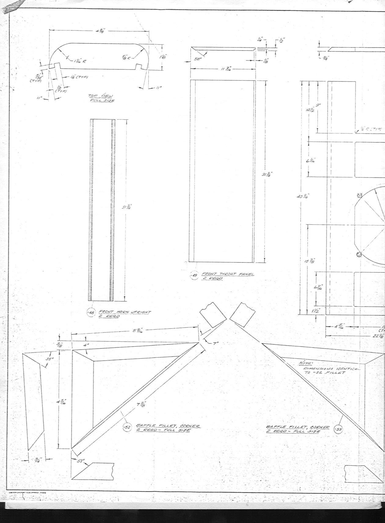 Loudspeaker Schematic Diagram And Cabinet Design Plan